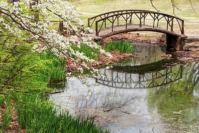 Photograph - Woodward Park Bridge In Spring - Tulsa Ok by Gregory Ballos