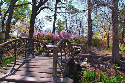 Photograph - Woodward Park Bridge In Spring - Tulsa Oklahoma by Gregory Ballos