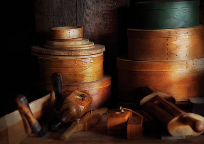 Woodworker - Shaker Box Shop  Print by Mike Savad