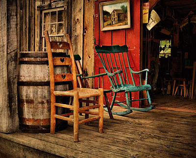 Photograph - Woodworker's Porch by Pat Abbott