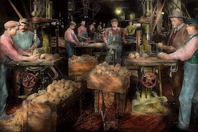 Photograph - Woodworking - Toy - The Toy Makers 1914 by Mike Savad