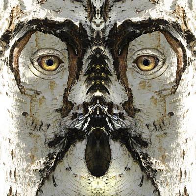 Pareidolia Wall Art - Digital Art - Woody 159 by Rick Mosher
