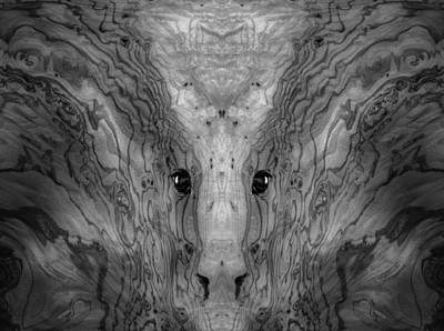 Digital Art - Woody 38bw by Rick Mosher