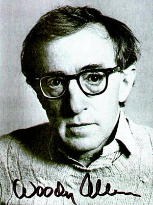 Autographed Mixed Media - Woody Allen Autographed Portrait by Pd