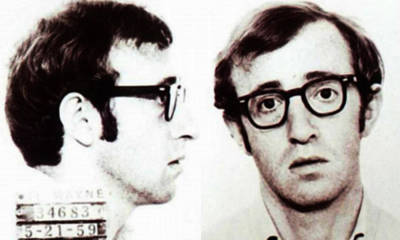 Virgil Painting - Woody Allen Mug Shot For Film Character Virgil 1969 Sepia by Tony Rubino