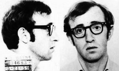 Police Art Painting - Woody Allen Mug Shot For Film Character Virgil 1969 by Tony Rubino