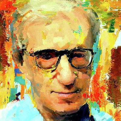 Woody Allen Digital Art - Woody Allen Portrait by Yury Malkov