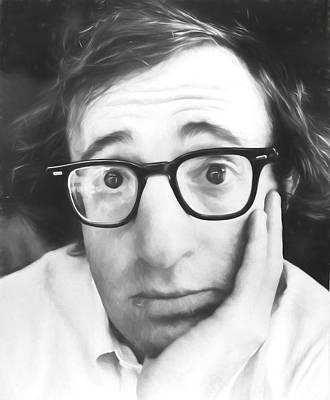Woody Allen Drawing - Woody by Dan Sproul