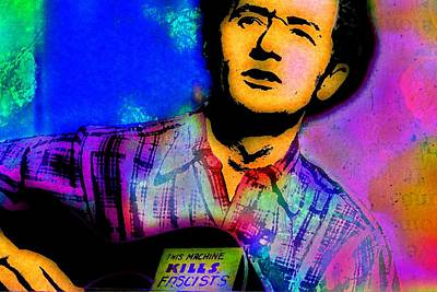 Woodies Mixed Media - Woody Guthrie B by Otis Porritt