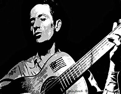 Woody Guthrie Painting - Woody Guthrie by Dave Gafford