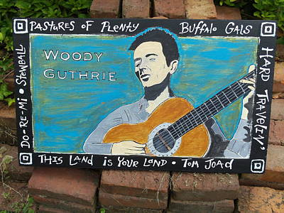 Woody Guthrie Painting - Woody Guthrie by Mojo Goat