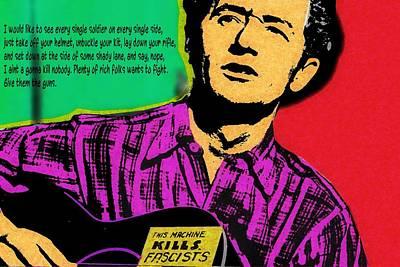 Woodies Mixed Media - Woody Guthrie by Otis Porritt