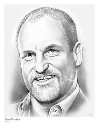 Drawing - Woody Harrelson by Greg Joens