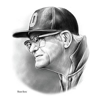 Sports Royalty-Free and Rights-Managed Images - Woody Hayes by Greg Joens