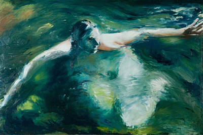 Wading River Painting - Woody In The Willamette by Danna Whitney