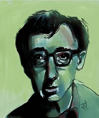 Woody Allen Digital Art - Woody by Jim Vance