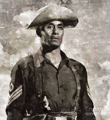 Woody Strode, Actor Art Print by Mary Bassett