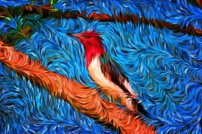 Digital Art - Woody Woodpecker by Mario Carini