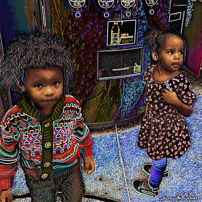 Brothers And Sisters Digital Art - Woogie And Thumbalina by Iowan Stone-Flowers