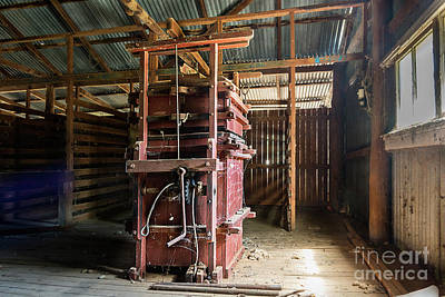 Photograph - Wool Baling Equipment by Stuart Row