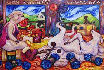 Painting - Wool Industry Woes by Dianne Connolly