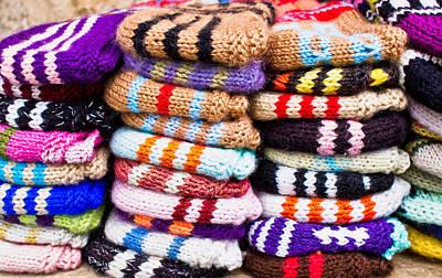 Wool Socks Art Print by Tom Gowanlock