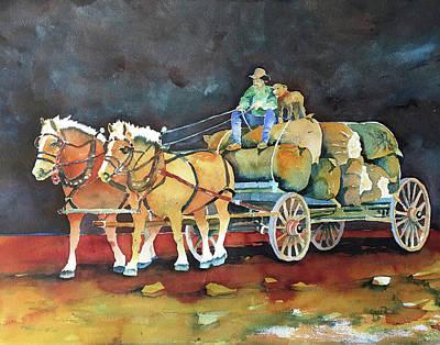 Sheep Wagon Painting   Wool Wagon By Jess Rice