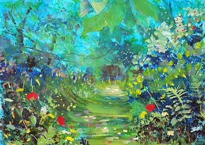 Mixed Media - Woodland Arboretum  by Mike Jory