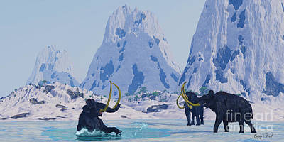 Winter Animals - Woolly Mammoth in Danger by Corey Ford