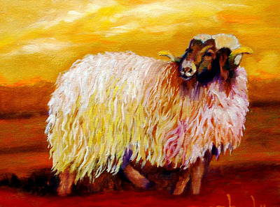 Woolly Art Print by Marie Hamby