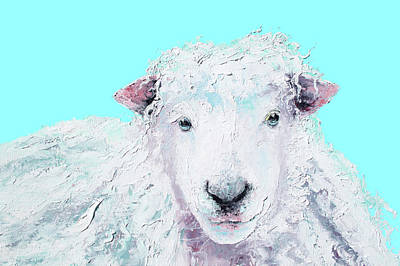 Woolly Sheep  Art Print by Jan Matson