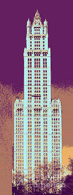 Woolworth Digital Art - Woolworth Building Art by Celestial Images