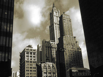 Photograph - Old New York Photo - Historic Woolworth Building by Art America Gallery Peter Potter