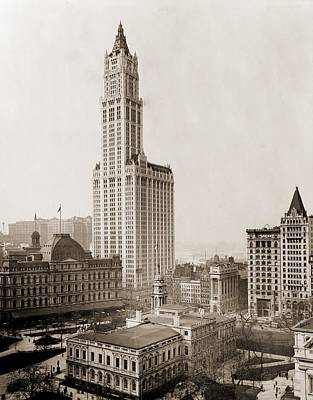 Woolworth Photograph - Woolworth Building, The Tallest by Everett