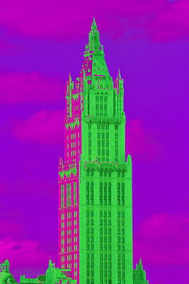 Photograph - Woolworth In Green And Purple by Christopher Kirby