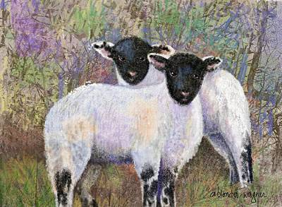 Lambs Digital Art - Wooly Brothers by Arline Wagner