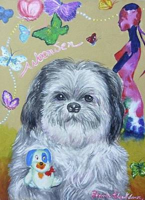 Painting - Woonsen My Lovely Dog by Wanvisa Klawklean