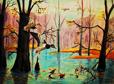 Painting - Wooodland Wonders by Hazel Holland