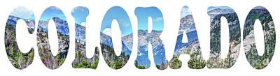 Photograph - Word Art...  Colorado by Deborah Klubertanz