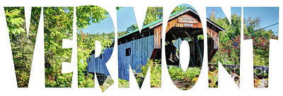 Photograph - Word Art...  Vermont by Deborah Klubertanz