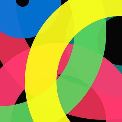 Painting - Word Circle - Winter by REVAD David Riley
