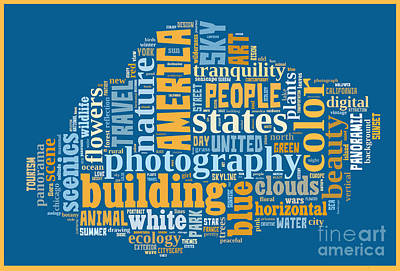 Color Image Drawing - Word Cloud Of Popular Faa Keywords by Edward Fielding