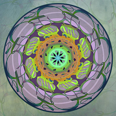 Photograph - Word Mandala - by Julie Weber