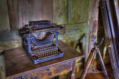Old Town Digital Art - Word Processor by David Wagner