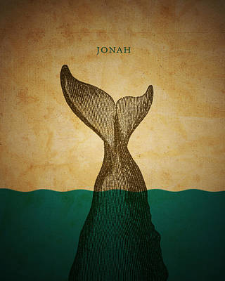 Whale Digital Art - Wordjonah by Jim LePage