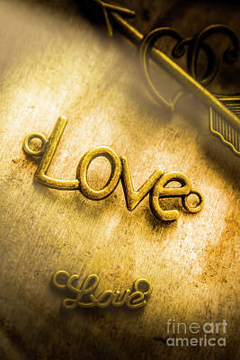 Jewellery Photograph - Words And Letters Of Love by Jorgo Photography - Wall Art Gallery