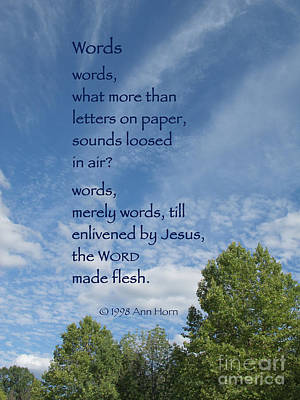 Words Print by Ann Horn