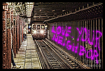 Digital Art - Words Of A Prophet Are Written On A Subway Wall by Jim Fitzpatrick