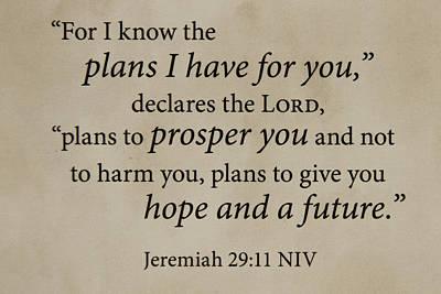 Words Of Life 4 Scripture Verses Bible Art Art Print