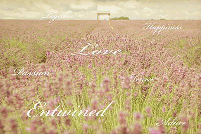 Promise Ring Photograph - Words Of Love by Angela Aird
